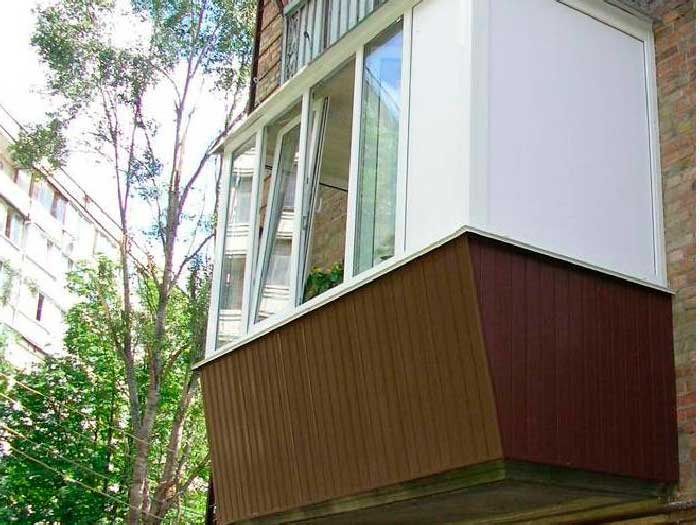 Балкон хрущевка остекление выносом.