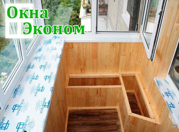 скамья дереянная  на балкон