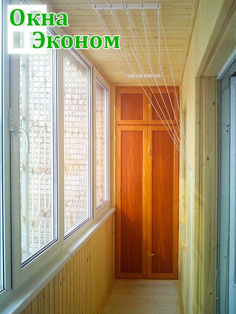 """Шкафы для балконов и лоджий """"окна эконом""""."""