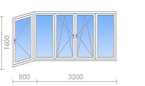 """Пластиковые окна для балконов и лоджий """"окна эконом""""."""
