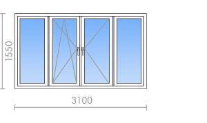 Размер окна лоджии и балкона.