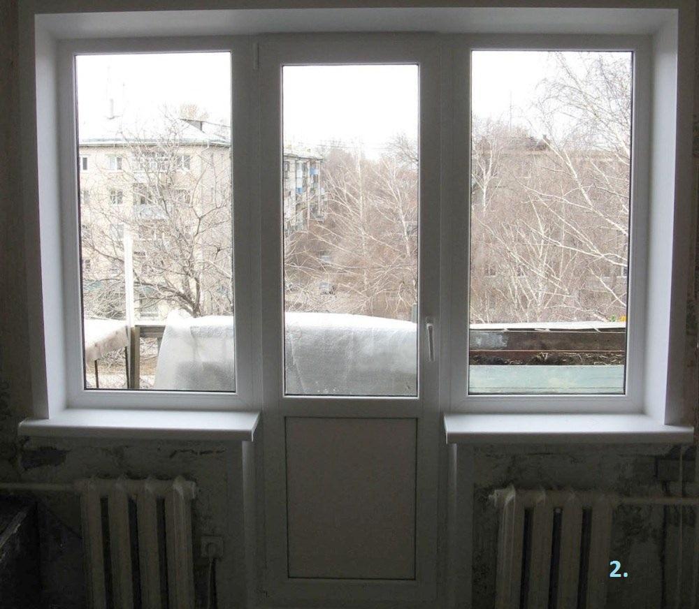 """Окна для балконных блоков """"окна эконом""""."""