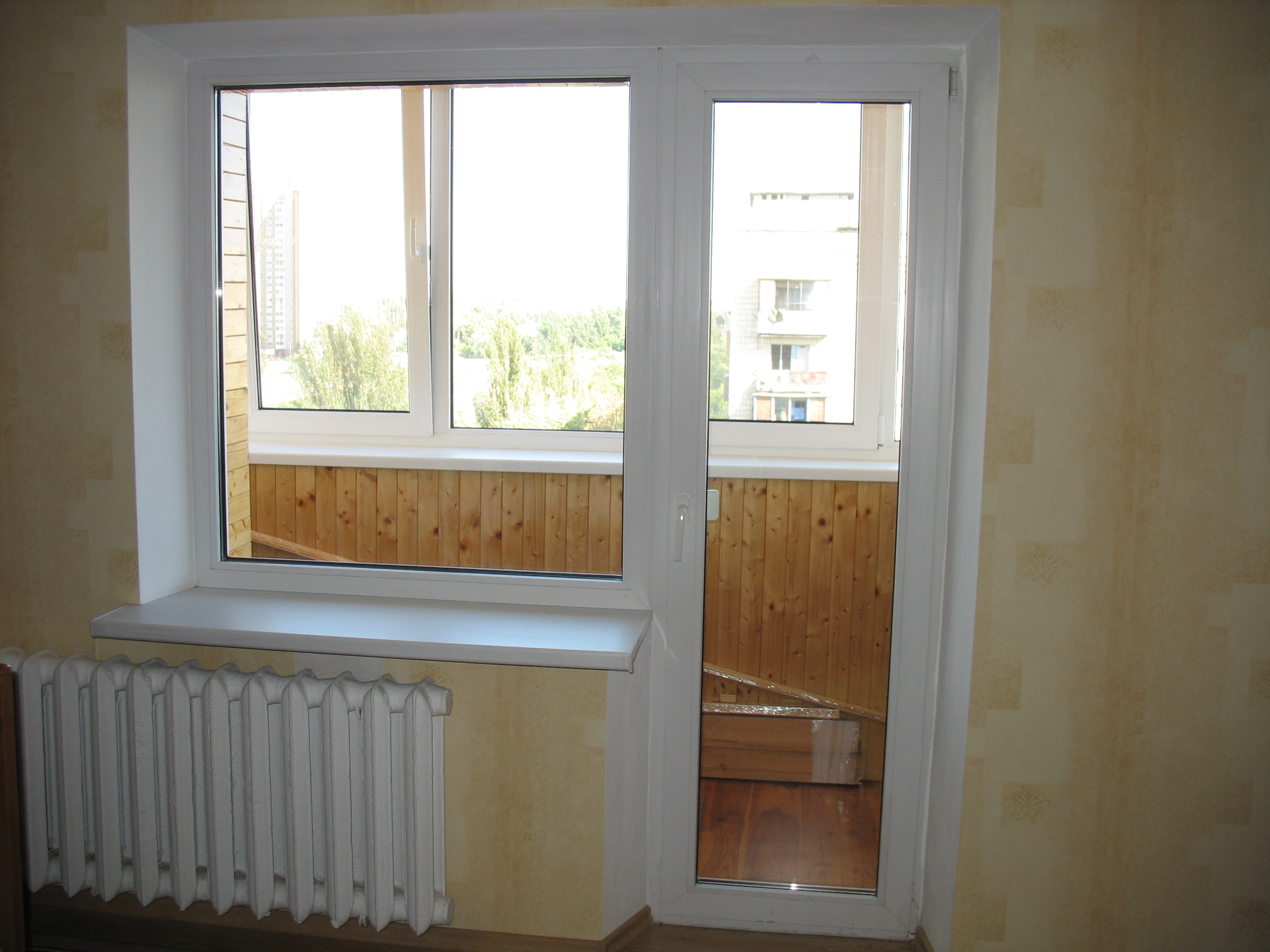 Окна балконные фото.