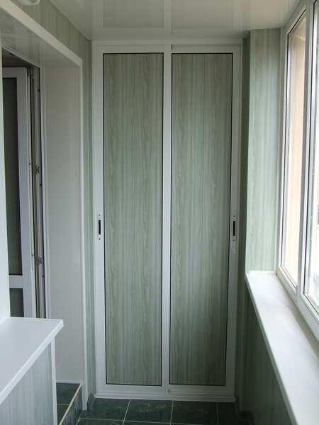 Металлопластиковый шкаф на балкон своими руками